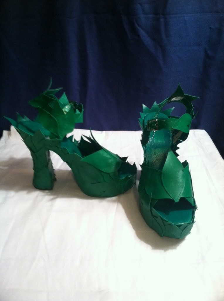 Poison Ivy Shoes - custom design by Amanda Stone - Summer 2012